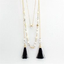 The Black Tassel Necklaces