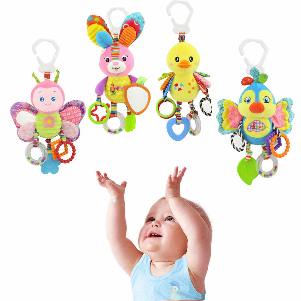 Baby Stroller Hanging Toy Plush Animal Rattle Bed Bell Infant Baby Comfort Toy bebe reborn children baby toys juguetes toys