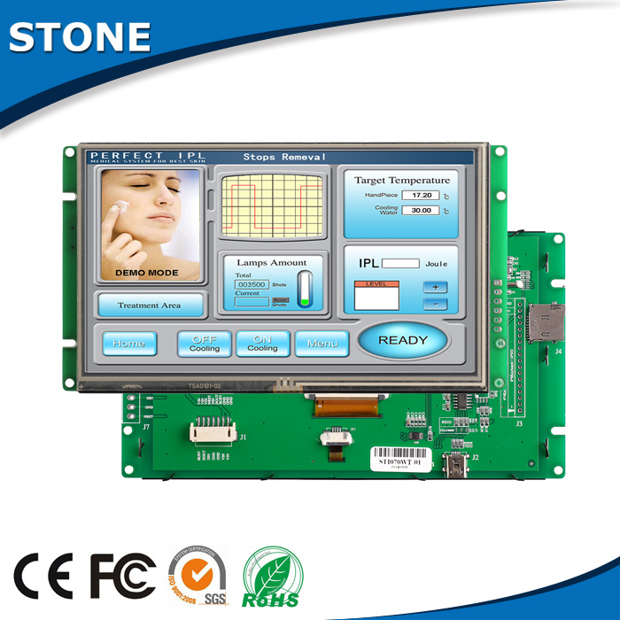 Touch Screen Controller <font><b>5</b></font> <font><b>Inch</b></font> TFT <font><b>LCD</b></font> <font><b>Modul</b></font> MCU <font><b>Modul</b></font> RS232 Interface image