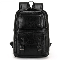 Backpack Men S Backpack PU Leather Travel Backpacks Men School Bag For Teenager Laptop Backpack Large
