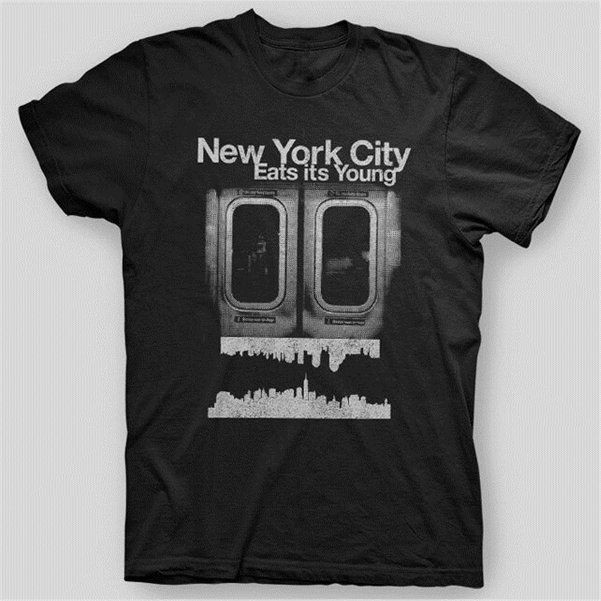 NEW YORK CITY EATS IT'S YOUNG NYC Make It In America T-Shirt SIZES S-5X Cool Tops Tee Shirt image