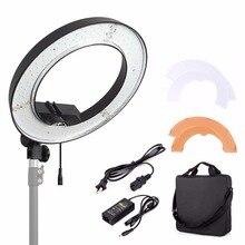 Mcoplus RL-12 5500K180 LED Photographic Lighting Dimmable Camera Photo Studio Phone Photography Ring Light Lamp+Free shipping EM