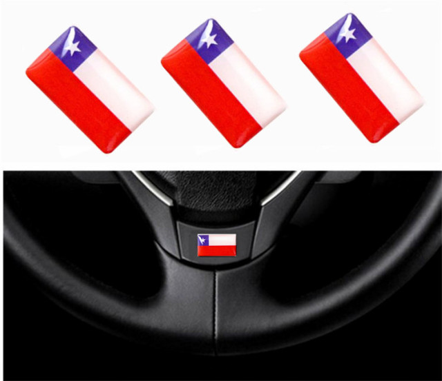 150 pieces interior chile flags car steering wheel sticker emblems decorations chile flag audio window lift
