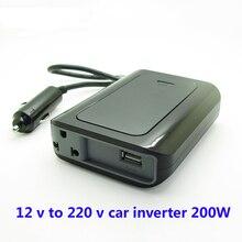 Ультратонкий автомобильный инвертор SUVPR 12 В до 220 В, автомобильный преобразователь напряжения 200 Вт, зарядное устройство для ноутбука, адаптер питания