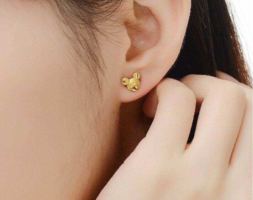 Fashion  999 24K Yellow gold Cartoon Stud Earrings 1.26gFashion  999 24K Yellow gold Cartoon Stud Earrings 1.26g