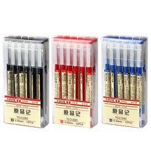 Stylo à l'encre au gel simple de style japonais pour étudiant, fournitures de papeterie pour école, examen, écriture et bureau, noir, bleu, rouge, 0,35 mm, fabricant, bref