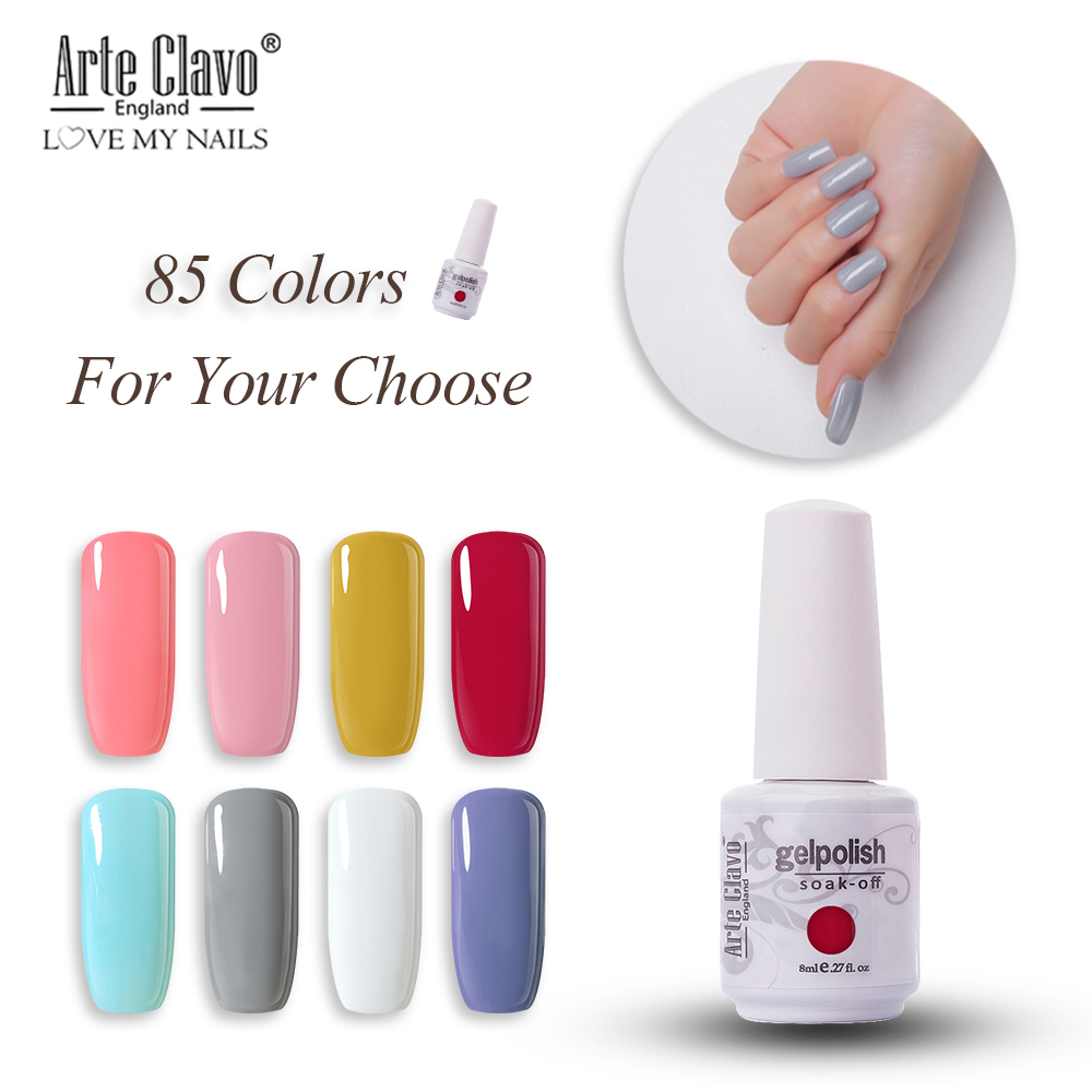 Arte Clavo Gel Nail Polish Nail Art 8ML Soak off LED