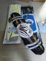 RM шпона для катания на водных лыжах, обувь для вейкбординга, двойные пластины для водных лыж, доска на коленях, drag гоночный (черный)