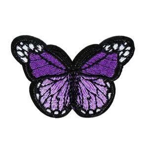 Image 3 - 10個刺繍蝶縫う綿パッチバッジ刺繍織物アップリケdiy服アクセサリーバッジステッカー