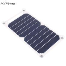 MVPower 5V 5W Solar Panel Bank Solar Power Charging Panel Charger USB For Mobile Smart Phone Samsung