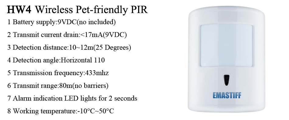 IOS/Android APP Control Home Security GSM Alarm System with Remote Control  & Autodial