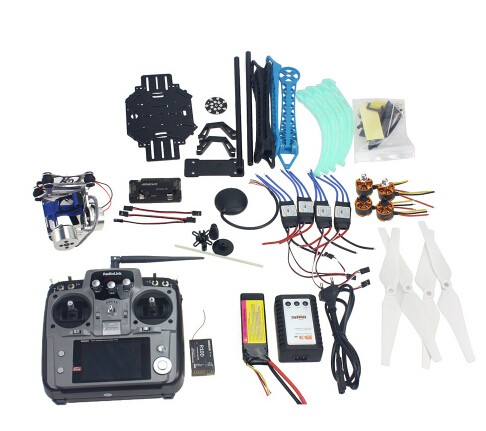 Full Set RC Drone Quadrocopter 4-axle Aircraft Kit 500mm Multi-Rotor Air Frame 6M GPS APM Flight Control 2Axle Gimbal F08151-J f15843 j k l 4 aix helicopter accessories kit with apm 2 8 gps for 450 4 aix rc drone quadcopter hexacopter multi rotor aircraft
