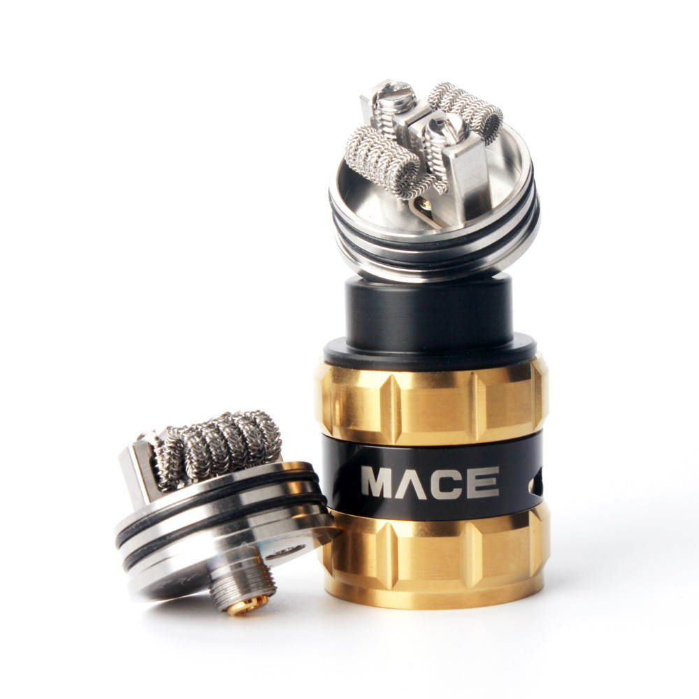 A-Touch E Cigarette Ample Mace BF RDA Tank 24mm Diameter Rebuildable Adjustable Airflow Mace Vaporizer VS Peerless RDA