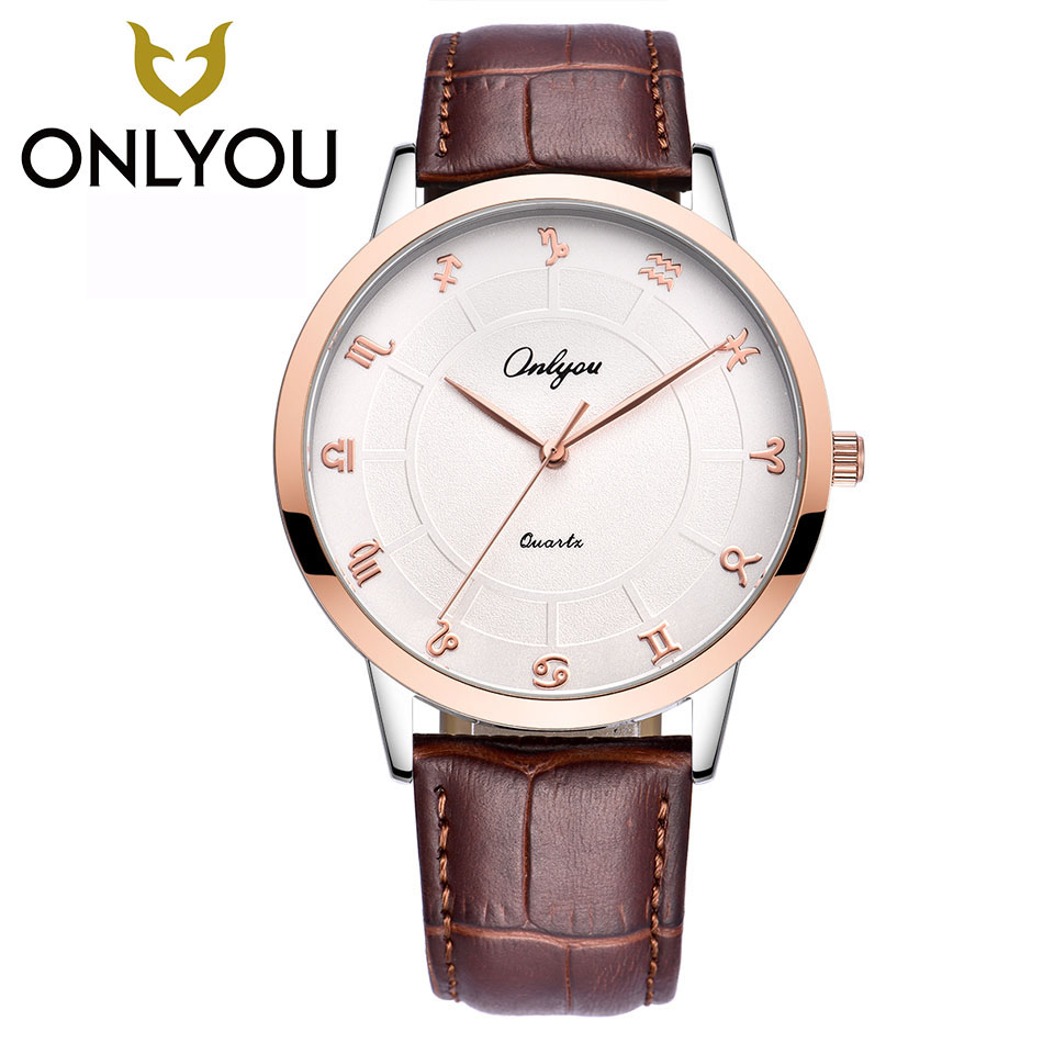 ONLYOU Luxury Quartz Women Watches Brand Fashion Sport Men Lovers Watch Clock Relogio Feminino for Girl Female Wristwatches megir brand luxury women watches fashion quartz ladies watch sport relogio feminino clock wristwatch for lovers girl friend 2011