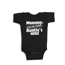 New Mommy Onesie Cotton Short Sleeve Baby Bodysuit Baby Boys Girls Clothes Funny Auntie Baby Clothing 0-24M