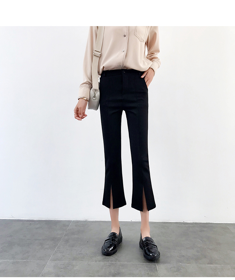 High-waisted Flare Pants Women 2018 Summer New Hot Fashion Female Casual Loose Ankle-length Pants Trousers Bottoms 13