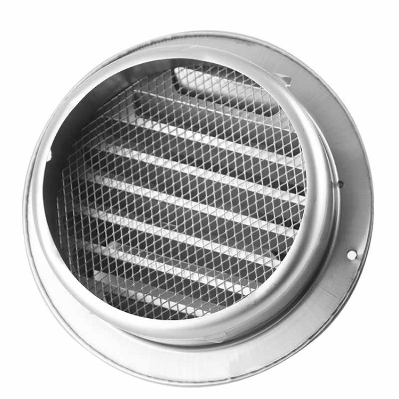 304SS Polished Air Vent Grille Ducting Wall Ventilation Cover Grid OD 50-300mm