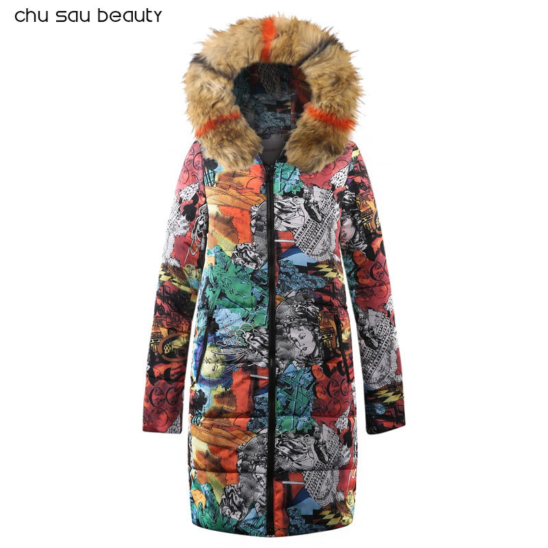 Fashion Winter Jacket Women Thick Warm Female Jacket Cotton Coat Parkas Long inverno Women Hooded Plus