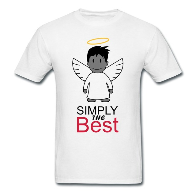 2014 Style Pre Cotton Boy Tee Shirt Angel Design Love Quotes Tee For Mens