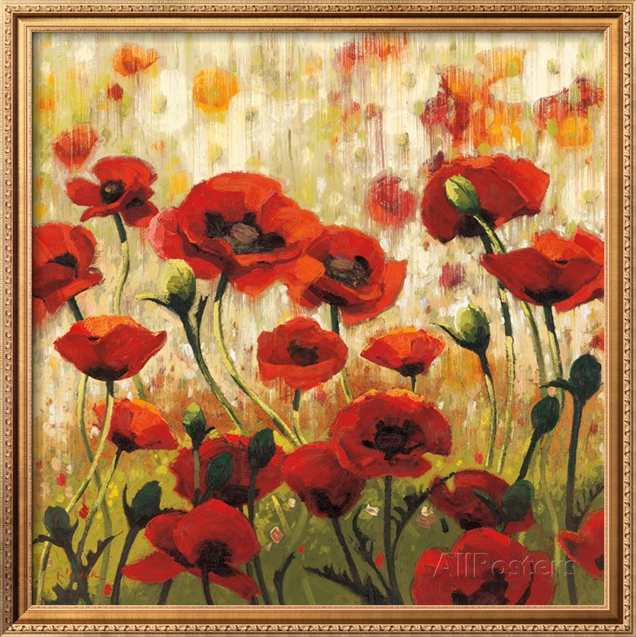 Modern art abstract oil painting flower sunny spring glee for Spring canvas paintings
