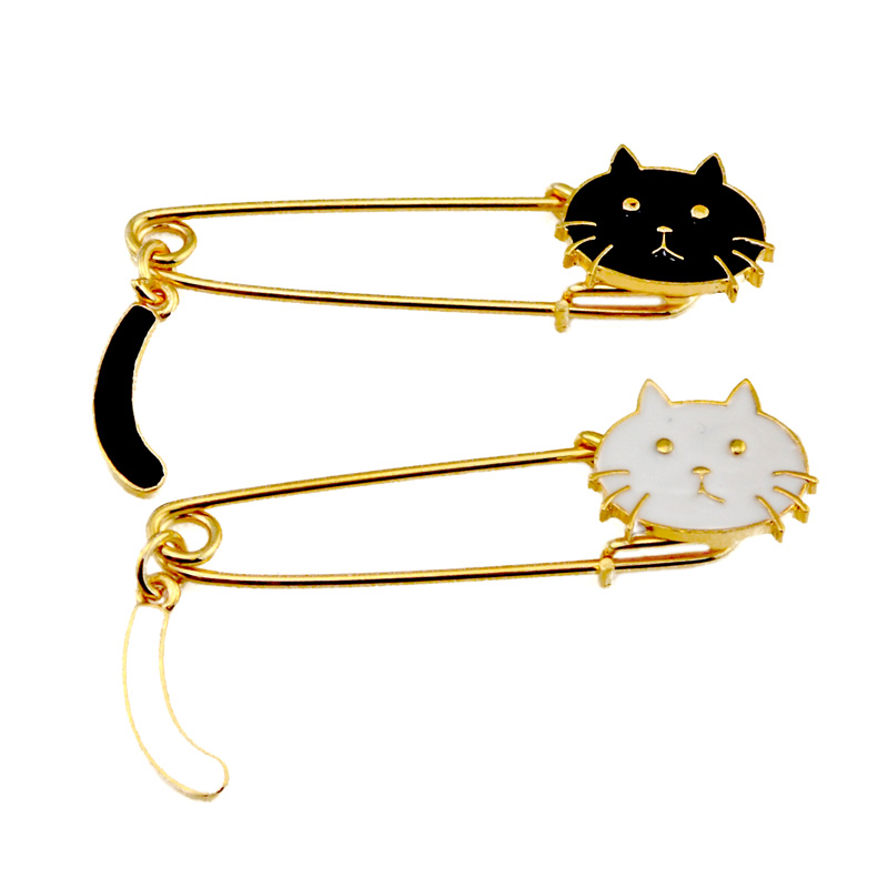 Fashion Lovely Enamel Cat Lapel Pin Brooch For Suit Accessories Brooches Women Wedding Party Jewelry