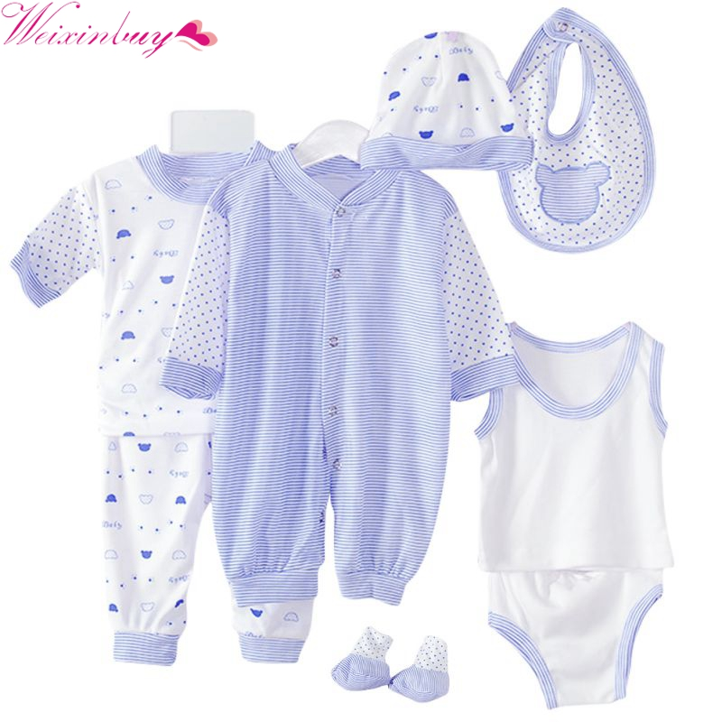 8PCS Newborn Baby Clothing Set Tracksuit Infant Boy Clothes Children Cloth Suit New Born Toddler Girl Boy baby clothing sets new born baby girl clothes leopard 3pcs suit rompers tutu skirt dress headband hat fashion kids infant clothing sets