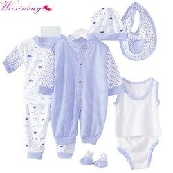 8PCS Newborn Baby Clothing Set Tracksuit Infant Boy Clothes Children Cloth Suit New Born Toddler Girl Boy baby clothing sets