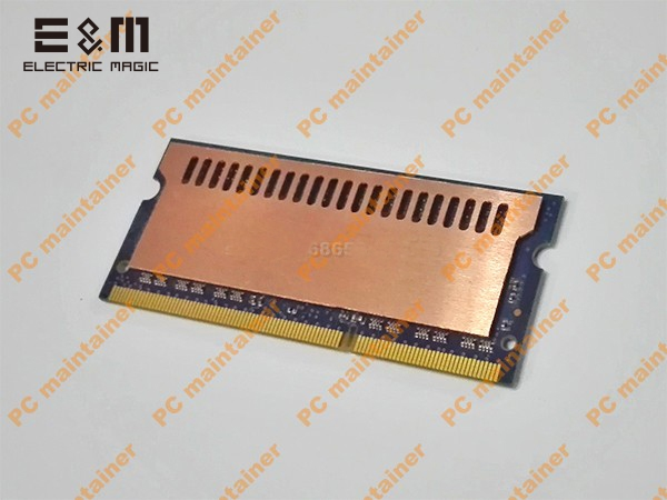 US $12 99 |E&M 100% Copper Laptop Memory RAM Cooling Silica Gel Vest Fin  Heat Sink Radiation Dissipate For DDR Game MOD DIY Overclocking-in  Integrated
