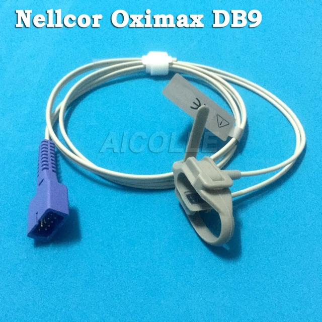 Compatible Nellcor DS 100A with Oximax 9pin 1m/3ft DB9 pulse probe ...