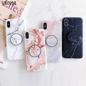 Phone Holder For iphone X case Protective shell Marble TPU Case