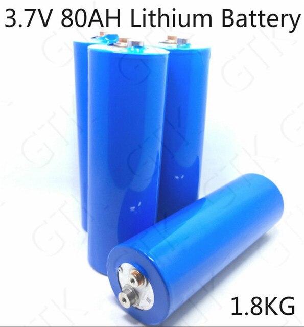 3 7 V 80ah Lithiumbatterij 80a Cilindrische Bateria Voor Diy 12 V 24