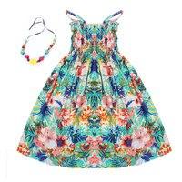 2016 Summer Kids Clothing Girls New 2 11Y Children Beach Dresses For Girls Fashion Bohemian Style