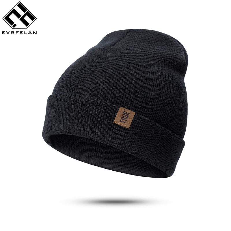 Evrfelan Brand Fashion Winter   Skullies     Beanies   Knitted Women Men Hats Solid Color Winter   Beanies   Hats Head Accessories