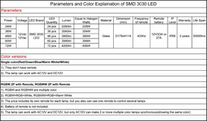 Image 4 - par 56 led piscine 24W 36W RGBW swimming pool led 48W 60W 72W warm white cold white