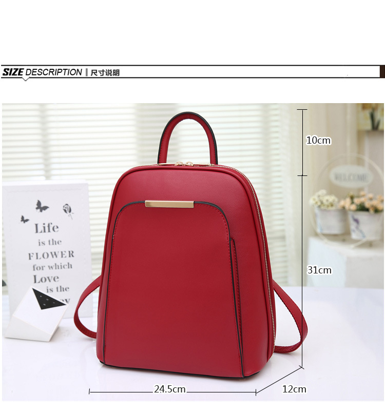 20efc3c5e95 2016 New Fashion pu+leather backpack women student to travel bolso mujer 5  color mochila feminina backpacks for teenage girls-in Backpacks from  Luggage ...