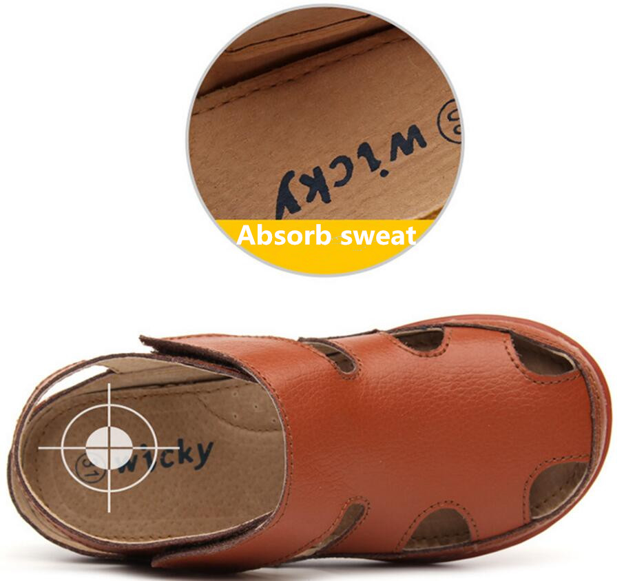 Children's leather sandals-21