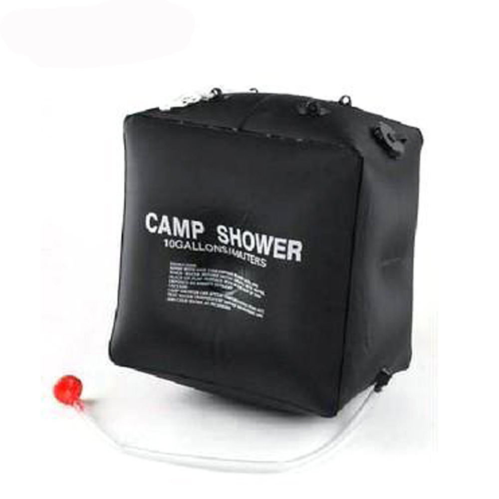40l portable outdoor heat folding shower bag solar camp shower with