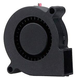 Image 4 - 2 шт. Gdstime 5015 50 мм DC 24 в 12 В 5 в 2 контактный шариковый подшипник Бесщеточный Охлаждающий турбинный вентилятор 50 мм x 15 мм вентилятор охлаждения вентилятор