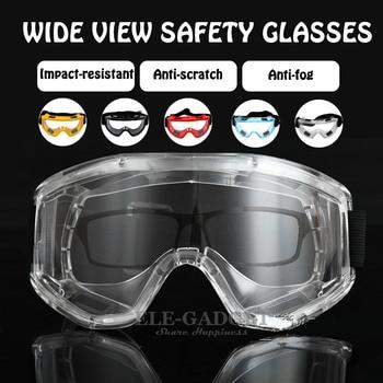 88b9557f5a Gafas protectoras transparentes gafas de seguridad antisalpicaduras a  prueba de viento gafas de seguridad de trabajo para investigación  Industrial ciclismo