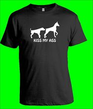 FUNNY DOG T-Shirt Kiss My Ass Puppy Pet Mens Gift New T Shirts Funny Tops Tee Unisex