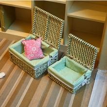 Home Storage & Organization container basket Paper rope Bins Rectangular Basket Organizer Box organizador cesta