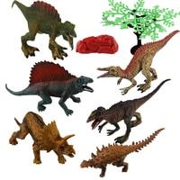 T REX 6pcs/Set PVC Dinosaur Model Toys Plastic Jurassic World Spinosaurus Suchomimus Dimetrodon Small Action figure