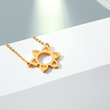 Fashion Gold Flower Pendant Necklace Sliver Hollow For Men Chain for Trendy Jewelry Collier Birthday Gift