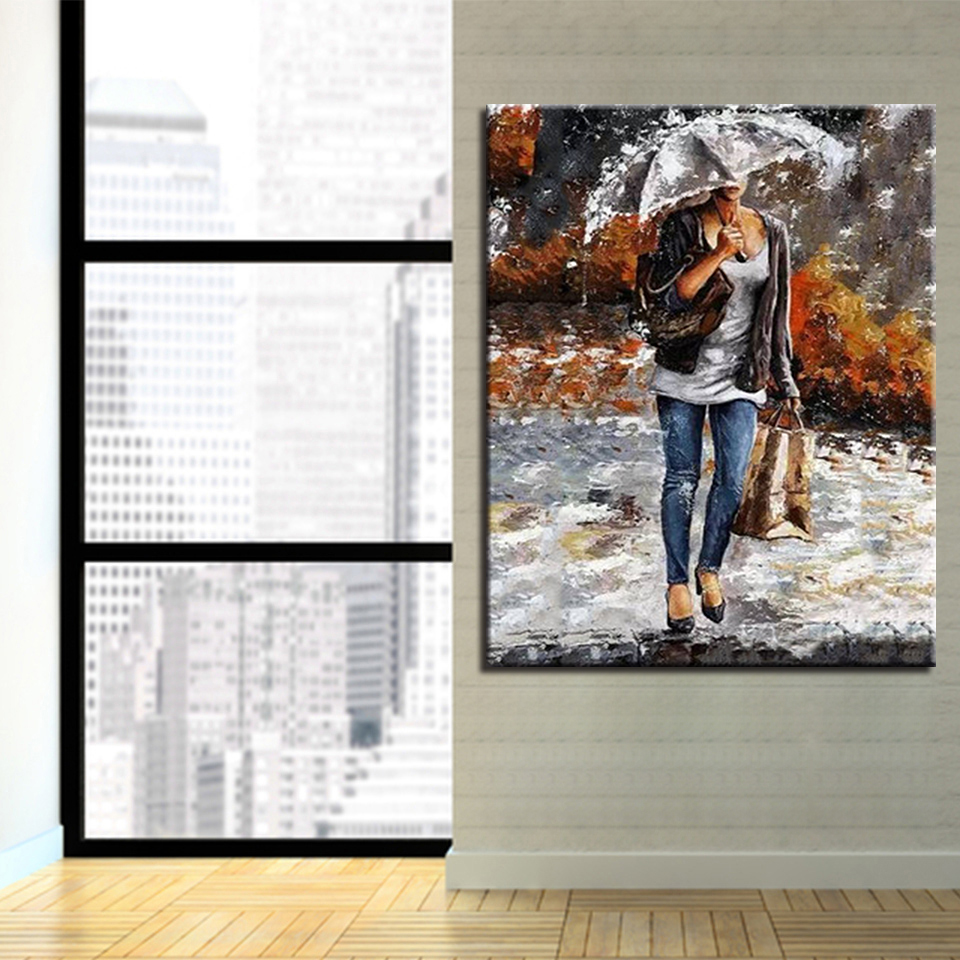 By Numbers Digital DIY Oil Painting Frame Poster Wall Photo Figure ...
