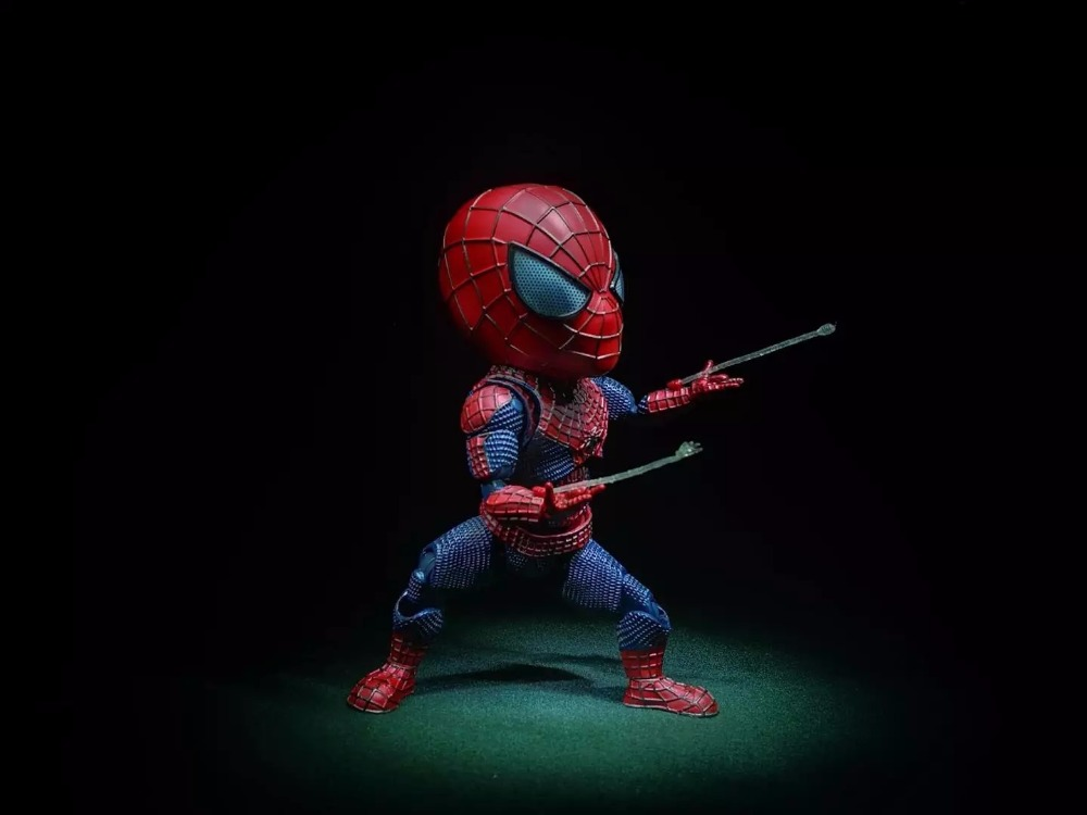Spider Man Action Figure Egg Attack Action 170mm Anime Spider-Man Collectible Model Doll Toy Spider Man 2 10cm spider man japanese anime lovely swing doll cute black panther mobile phone holder shaking head action