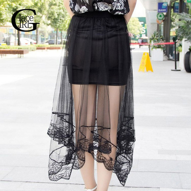 Lace Girl Summer Style 2017 New Fashion Women Sexy Sheer Tulle
