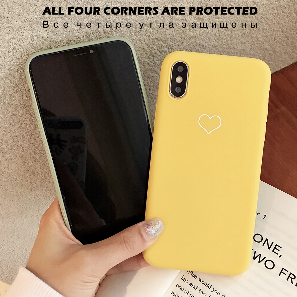 KIPX1091_3_JONSNOW Phone Case For iPhone XS XR XS Max  6S 7 8 Plus Couples Style Love Heart Pattern Soft Silicone Case Capa Fundas