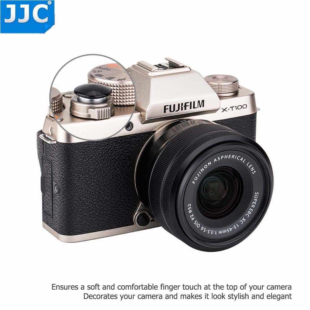 JJC SRB-NS клейкую ленту 3м стикеры латунный переключатель спусковой кнопки фотографического затвора для sony a7 II, a7R II, a7S II однообъективной зеркальной камеры Canon EOS M5, M10, M50 и т. Д. камеры