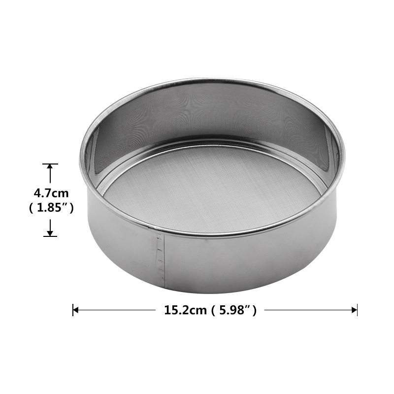 OBRKING Stainless Steel 15cm Flour Sieve 60 Mesh Cooking Tools Baking Tools Sieve Screen Handheld Round Fine Flour Strainer in Sifters Shakers from Home Garden