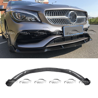 for Mercedes Benz W117 CLA AMG CLA45 2015 up For BRABUS Style Real Carbon Fiber Front Lip Bumper Spoiler